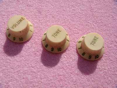 80's Stratocaster three spoke reissue knobs