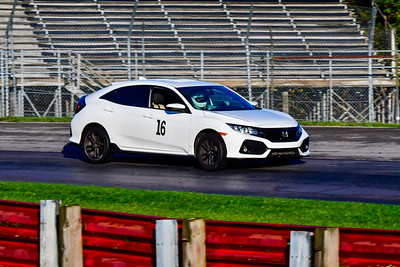 2020 OVR SCCA Oct 16 MO TrackDay White Honda Civic 16