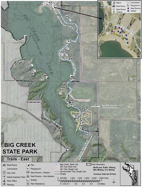 Big Creek State Park (Trail Map - East)