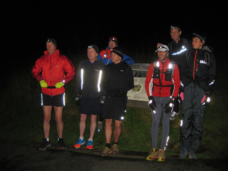 Here we are, all smiles, at Pen-y-Pass at 04:30, about to start. We obviously have no idea what's about to hit us. In 30 mins we would face an ascent of Crib Goch, the most precipitous knife-edged ridge in the UK, made slippery by rain, in darkness and murky cloud which cut visibility to 30 feet. After that we would have to climb Mt Snowdon, Wales' highest summit at 1,085 m...