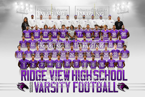 2020 Ridge View Varsity Football Team and Individuals