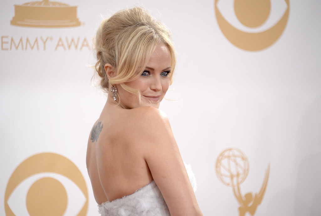 . Actress Malin Akerman arrives at the 65th Annual Primetime Emmy Awards held at Nokia Theatre L.A. Live on September 22, 2013 in Los Angeles, California.  (Photo by Kevork Djansezian/Getty Images)