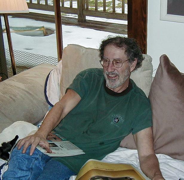 Larry Lebin at home, July 2004.