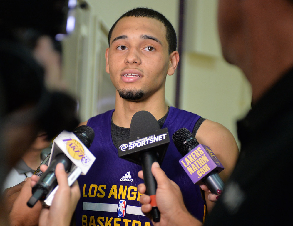 . Lakers pre-draft workout at Toyota Sports Center Wednesday June 4, 2014.  Tyler Ennis, Syracuse.     Photo By  Robert Casillas / Daily Breeze