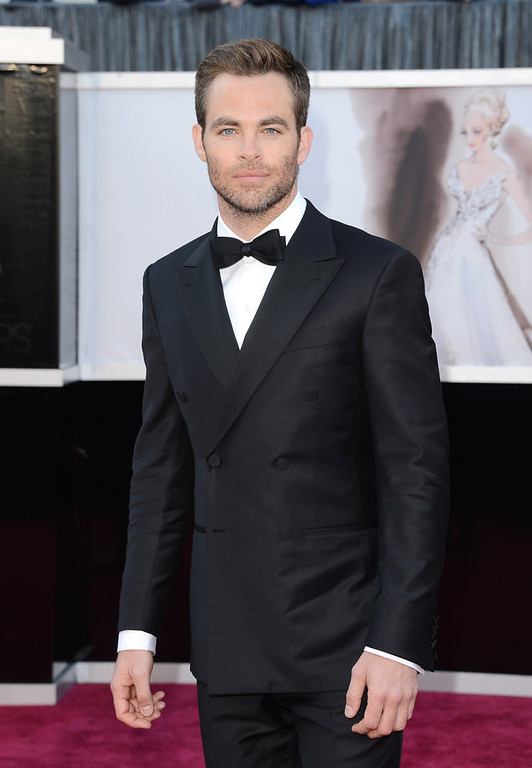 . Actor Chris Pine arrives at the Oscars at Hollywood & Highland Center on February 24, 2013 in Hollywood, California.  (Photo by Jason Merritt/Getty Images)