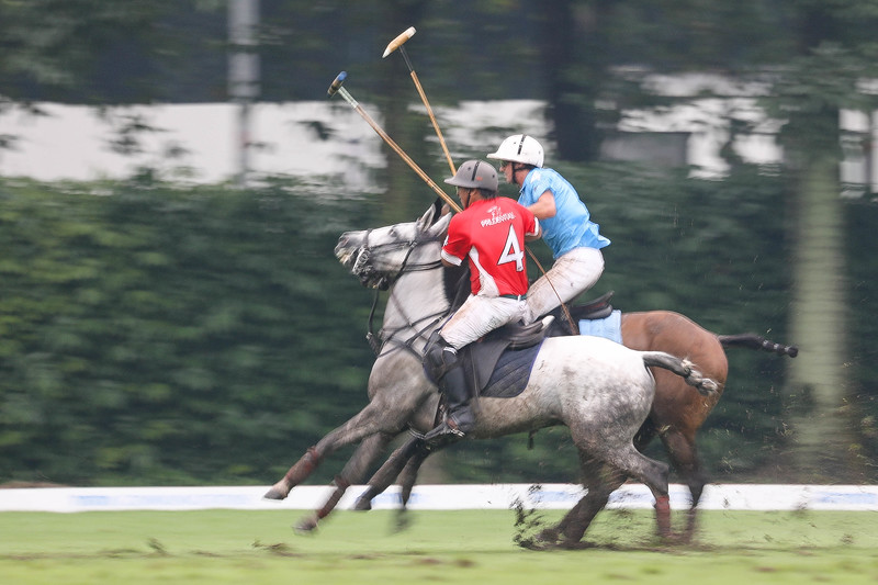 TATA COMMUNICATIONS SINGAPORE POLO OPEN 2018, Final Match between Prudential (red) vs Tata (blue), where Prudential won with a score of 2-1 after 3 chukka, taken on 20 May 2018 at Singapore Polo Club,Singapore. (Photo by : Sanketa Anand/SportSG) — at Singapore Polo Club (Official).