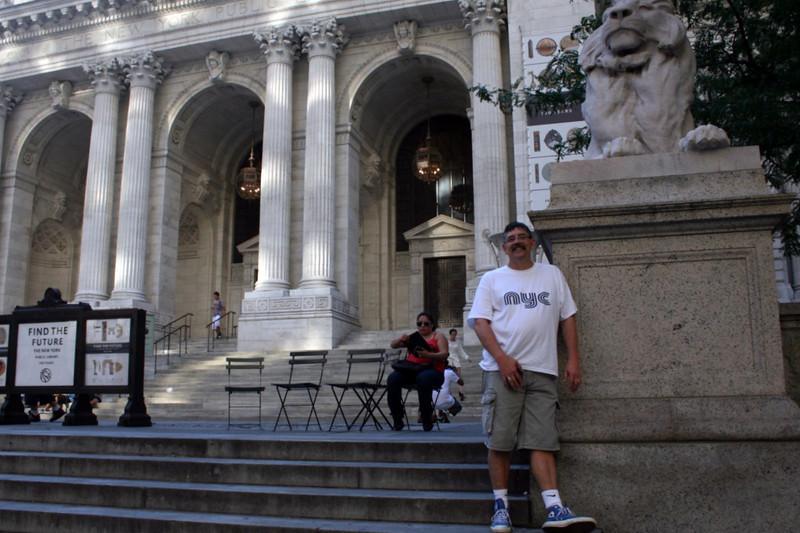 Joe at the New York Public Library