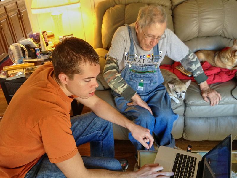 Nick tutoring Larry Lebin. Dec 4 2011