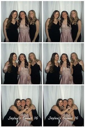 Jaylee's sweet 16 booth images