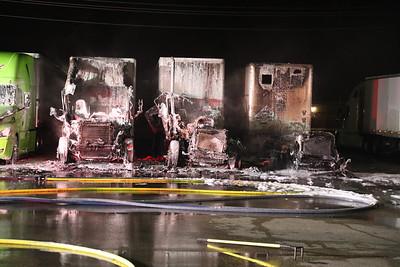 """Anna TX. Semi Truck fire """"Flying J"""" 4/3/20"""
