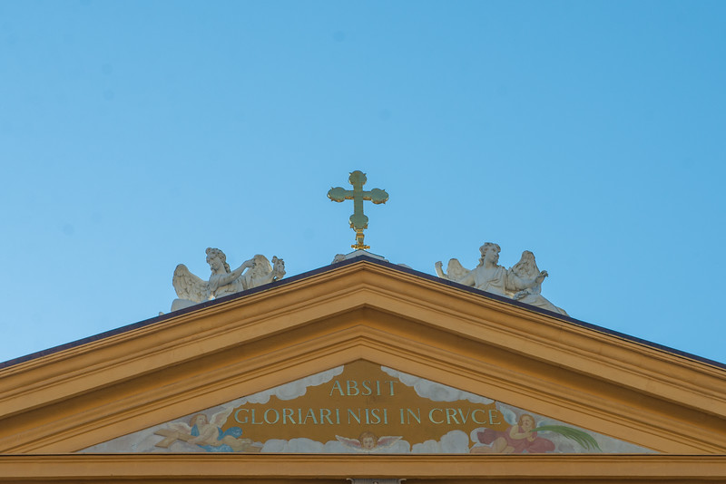 Above the Melk Abbey entry.