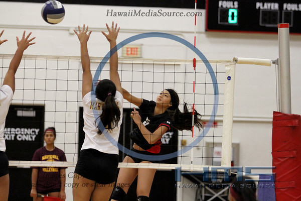 Iolani Girls Volleyball - Mkn 9-3-13