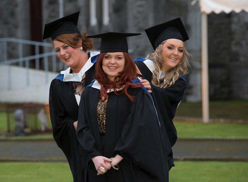 Pictured are Sheena Ryan, Tipperary, Cathy Holden, Kilkenny and Richael Fletcher, Tipperary who graduated Bachelor of Science in IT . Picture: Patrick Browne