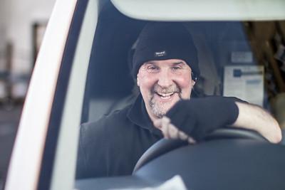 Martin in a van by GW, London, United Kingdom
