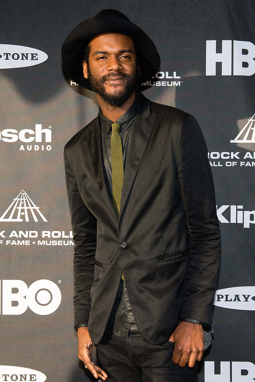 . Gary Clark Jr. on the red carpet prior to the 2015 Rock And Roll Hall Of Fame Induction Ceremony at Public Hall on Saturday, April 18, 2015, in Cleveland, Ohio. (Photo by Jason Miller/Invision/AP)