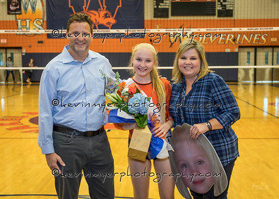 Wakeland Volleyball Senior Night 2018