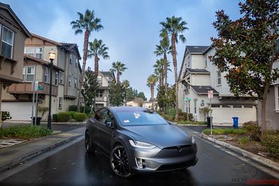 2020 Tesla Model X - Midnight Silver Metallic - XPEL Stealth