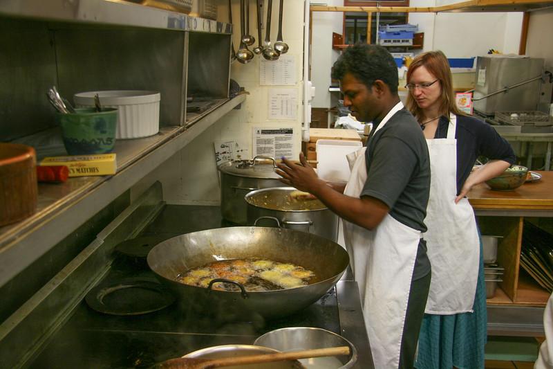 Saravannan cooking Indian dish