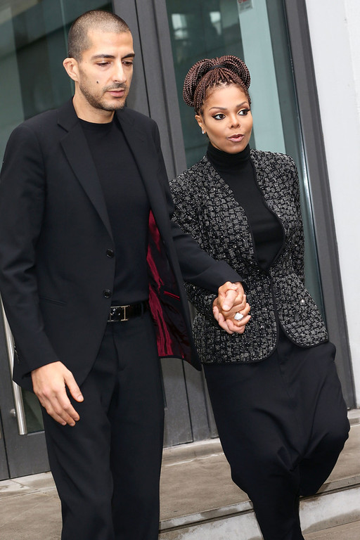 . Wissam al Mana and Janet Jackson attend the Giorgio Armani fashion show as part of Milan Fashion Week Womenswear Fall/Winter 2013/14 on February 25, 2014 in Milan, Italy.  (Photo by Vittorio Zunino Celotto/Getty Images)