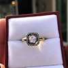 .53ctw Rose Cut Halo Ring, by Single Stone 12