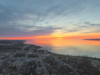 Little Traverse Bay Aerial Season Photography
