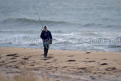 Surfcasting, Gilgo Beach, NY, (11-27-08)