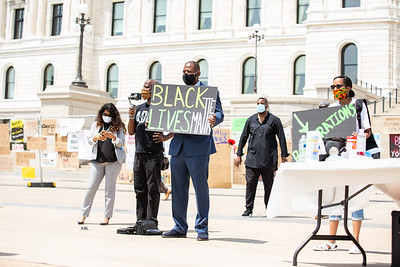 Juneteenth Reparations and Jumu'ah Khutbah Rallies, Minnesota State Capitol, Saint Paul, June 19