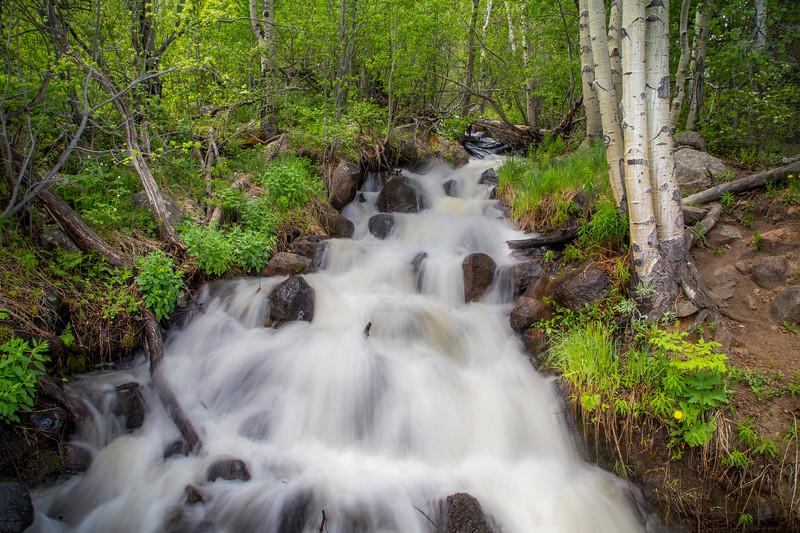 Roadside Waterfall in Rocky Mountain National Park