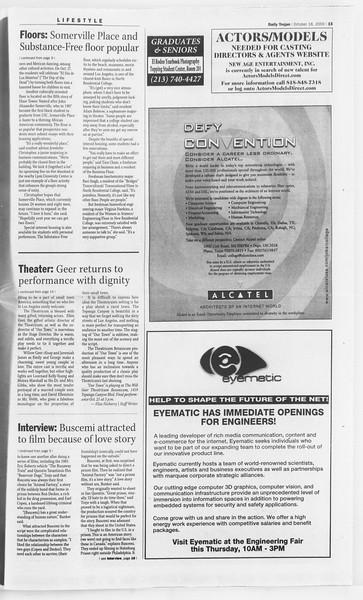 Daily Trojan, Vol. 141, No. 36, October 18, 2000