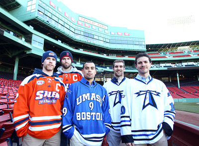 Salem State Hockey Frozen Fenway Coin Flip