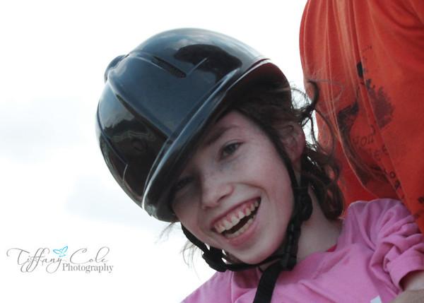 Erika Riding at Rainbow Riders Aug 16