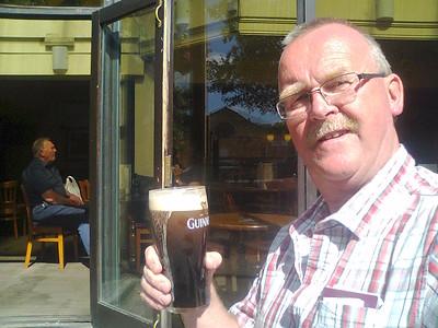 Strabane man A final pint & back to Newark base 2015