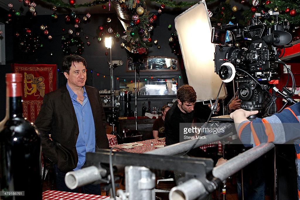 on set at Natali Yura Video Shoot With Burt Young Noel Ashman, Rakim & Federico Castelluccio at PJ Charlton on March 16, 2014 in New York City.