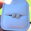1.70ctw Old European Cut Diamond Clover Stud Earrings, GIA H-I SI 15