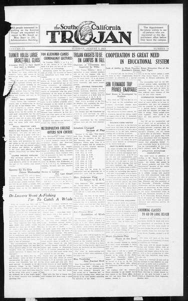 The Southern California Trojan, Vol. 3, No. 11, August 05, 1924