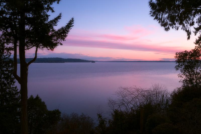 Henderson Bay at Sunset