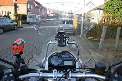 Installation GPS-holder
