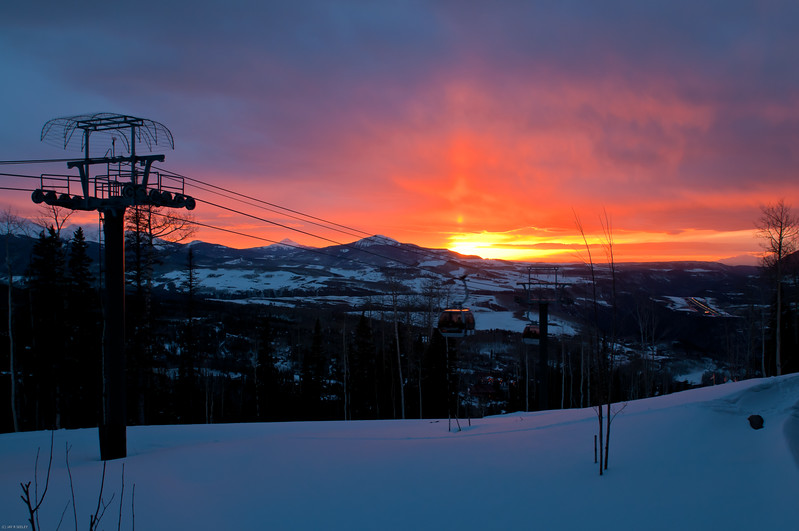 sunset from station St. Sophia, Telluride