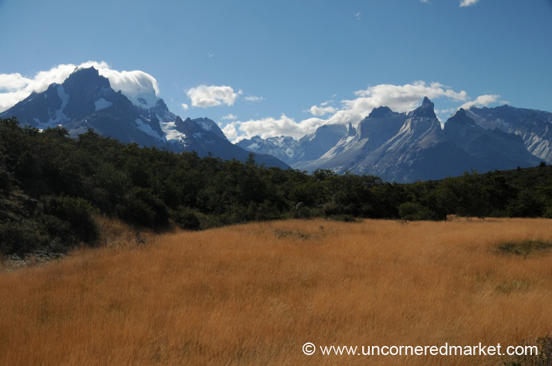 Sunshine and Clear Skies at Torres del Paine National Park - Chile