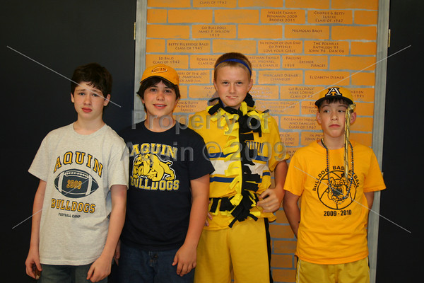 blue and gold day . pep rally .  9.25.08