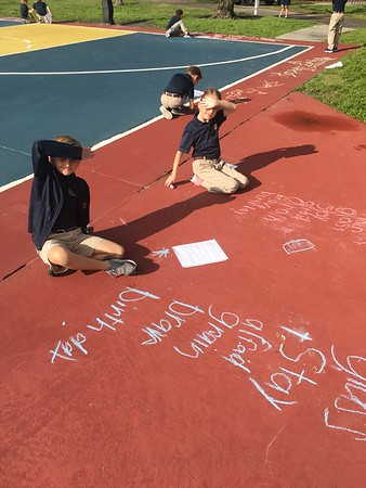 A beautiful day to practice our spelling in a creative way!