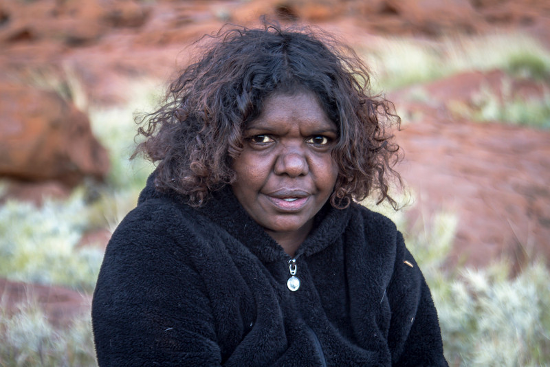 "Aboriginal guide, ""Natalie."""