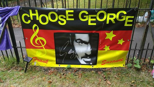 George Michael`s Memorial Garden Highgate 2017