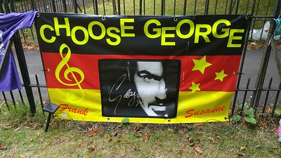 George Michael`s Memorial Garden Highgate 2017