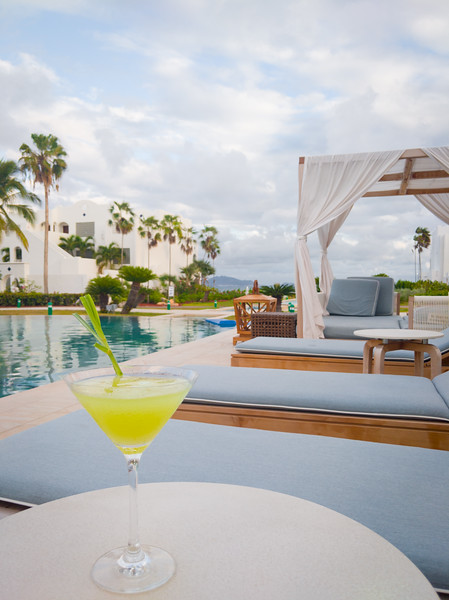 lemongrass cucumber martini anguilla pool.jpg