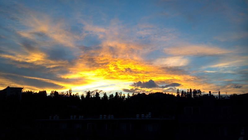 Sunset above Lake Dillon