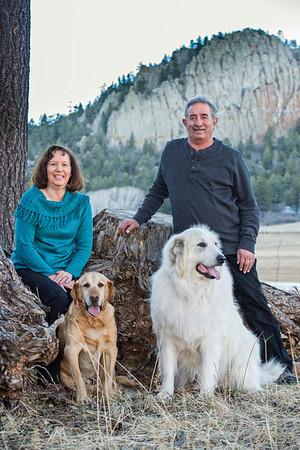 Dan, Linda, Brutus, and the other Guy, Christmas 2013