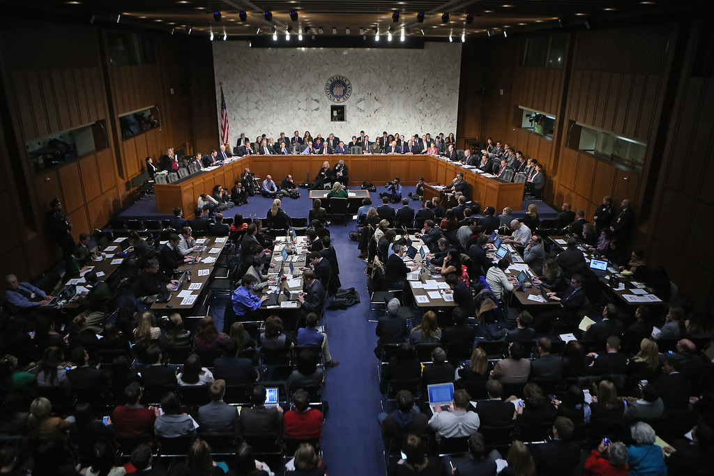 . WASHINGTON, DC - JANUARY 23: U.S. Secretary of State Hillary Clinton testifies before the Senate Foreign Relations Committee on Capitol Hill January 23, 2013 in Washington, DC. Lawmakers questioned Clinton about the security failures during the September 11 attacks against the U.S. mission in Benghazi, Libya, that led to the death of four Americans, including U.S. Ambassador Christopher Stevens. (Photo by Chip Somodevilla/Getty Images)