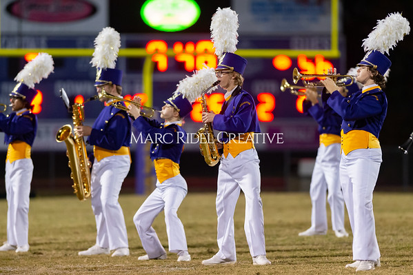 Broughton varsity football vs Cardinal Gibbons. Band and Dance Team Senior Night. October 25, 2019. D4S_1714