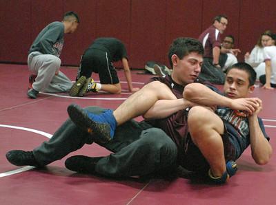 Morton wrestling practice